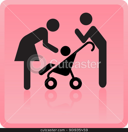 Vector Man & Woman icon with children  stock photo, Vector Man & Woman icon with children  by aarrows