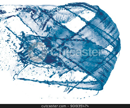 Moving water ball stock photo, Water ball moving from left to right. by Klemen