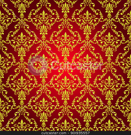 Seamless wallpaper pattern  stock photo, Seamless wallpaper pattern from abstract smooth forms, vector by aarrows