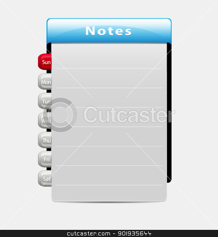 Vector week notes template stock vector clipart, Illustration of a template for week-related notes/remarks by Vladimir Repka