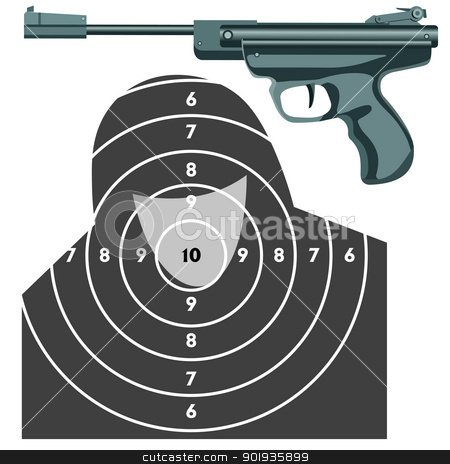 firearm, the gun against the target.  stock photo, firearm, the gun against the target.  by aarrows