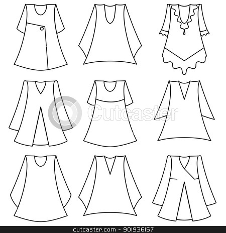 set of fashionable  dresses for girl stock photo,  set of fashionable  dresses for girl by aarrows