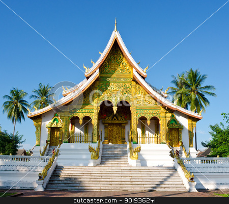 Temple in Luang Prabang, Laos  stock photo, Buddhist Temple in Luang Prabang Royal Palace,  Laos  by Pablo Caridad