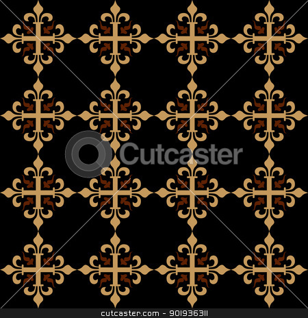 Seamless wallpaper patternr stock photo, Seamless wallpaper patternr without a seam from beautiful bent lines by aarrows