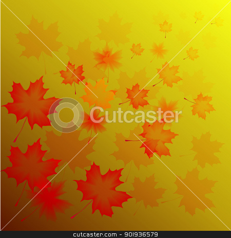 abstract flora background stock photo, Abstract autumn background from flying leaves of a maple