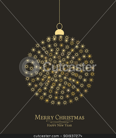 Christmas ball stock vector clipart, Christmas ball made from snowflakes vector illustration  by Miroslava Hlavacova