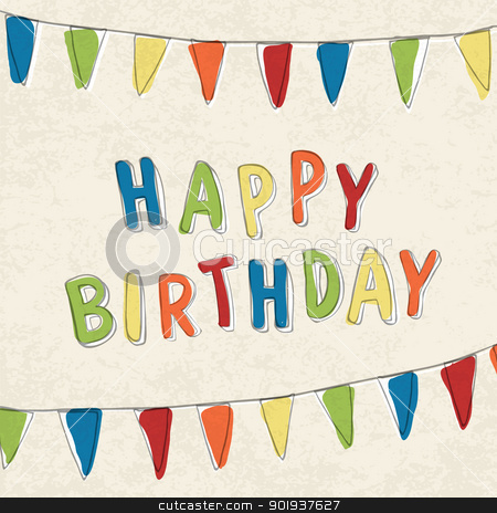 Happy Birthday Card. Vector, EPS10 stock photo, Happy Birthday Card. Vector, EPS10 by pashabo