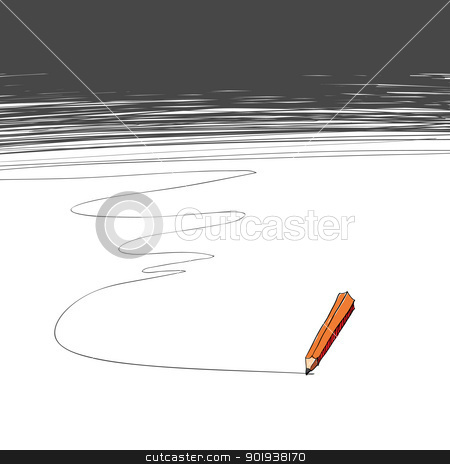 Pencil. Background with copy-space stock photo, Pencil. Background with copy-space by pashabo