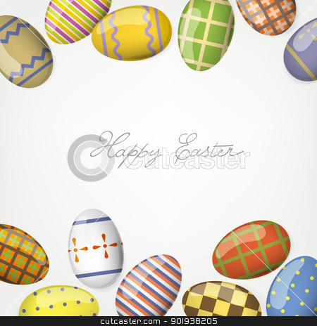 Colorful easter eggs. Frame background template. stock photo, Colorful easter eggs. Frame background template. by pashabo