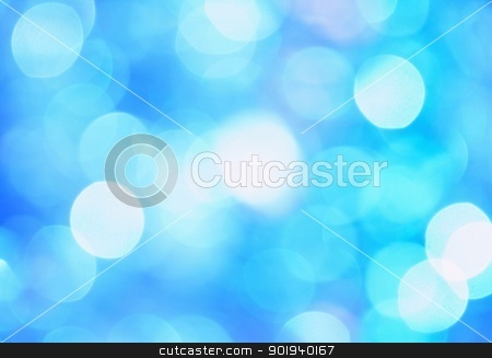 Christmas background stock photo, Abstract Christmas blue background formed by several chains by Ondrej Vladyka