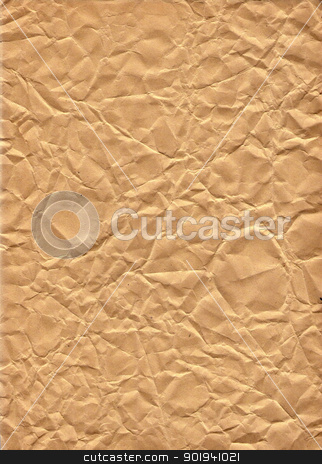 old crumpled paper stock photo, Detail of the crumpled paper - background by Siloto
