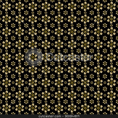 Skull Pattern stock photo, Angel skull with vertebrae side face illustration pattern in black background. by Daniel