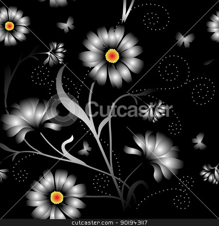 Elegance Seamless color pattern on background, vector illustrati stock vector clipart, Elegance Seamless color pattern on background, vector illustration by aarrows