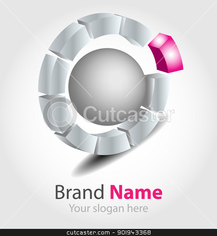 Brand logo stock vector clipart, Originally designed vector brand logo by Vladimir Repka