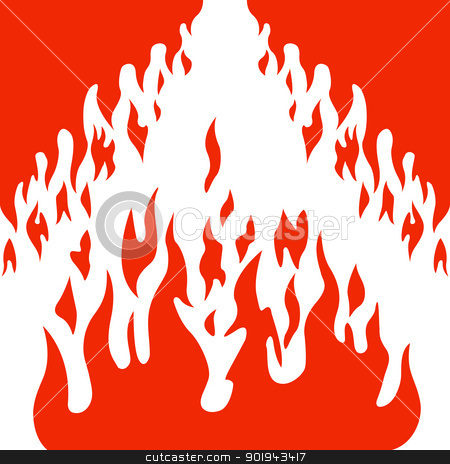 Burn flame fire vector background stock vector clipart, Burn flame fire vector background by aarrows