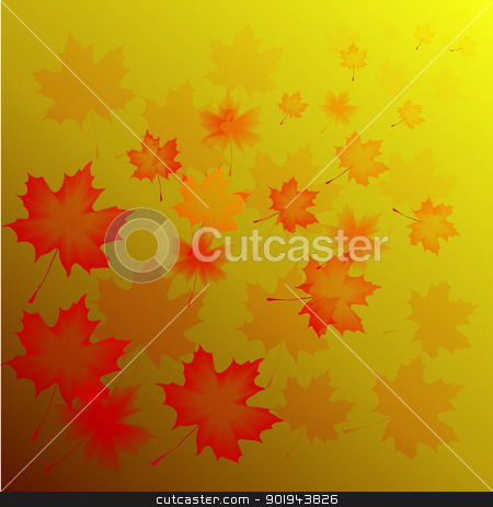 abstract flora background stock vector clipart, Abstract autumn background from flying leaves of a maple  by aarrows