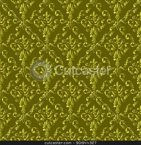 Seamless wallpaper pattern stock vector clipart, Seamless wallpaper pattern from abstract smooth forms, vector by aarrows