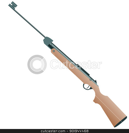 firearm, a pistol on a white background stock vector clipart, firearm, a pistol on a white background. Vector. by aarrows