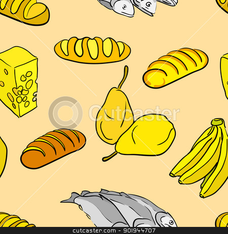 big collection of hand drawn food stock vector clipart, big collection of hand drawn food by aarrows
