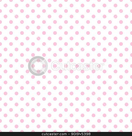 Pale Pink Polka Dots on White