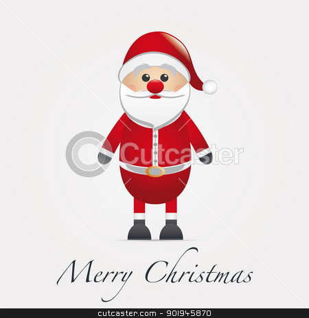 santa claus figure merry christmas type stock photo, santa claus figure with merry christmas type by d3images