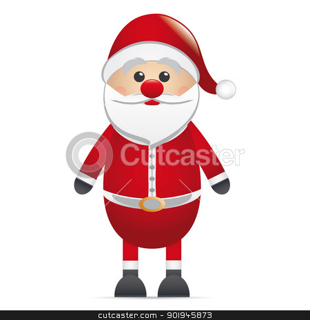 santa clause red nose stock photo, santa clause red nose on isolated background by d3images