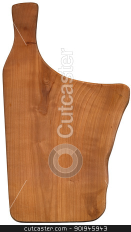 Using Cutting Board stock photo, Used chopping or cutting board isolated on withe  by catalby
