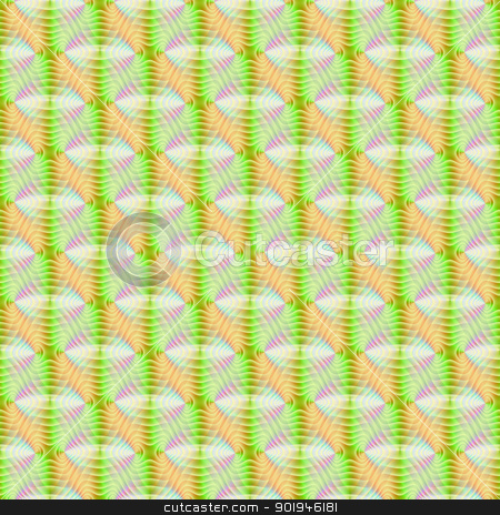 Seamless Pastel Contours stock photo, Digital abstract image with a tiled, seamless contoured pastel colored pattern in yellow, green, pink and blue. by Colin Forrest