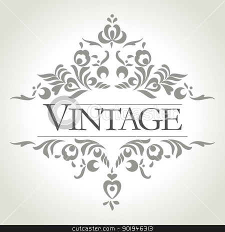 vector vintage frame stock vector clipart, vintage frame design - vector illistration by ojal_2
