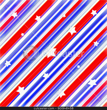 American Colors Stars Background stock photo, Multicolored abstract background with diagonal lines and stars.Useful for any kind of design, also for events related with america such as 4th of july,labor day, patriotic etc. by Daniel
