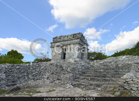 Mayan Ruins Tulum Mexico 1 stock photo, The Ancient Mayan Ruins Tulum Mexico  by Trevor Jordan
