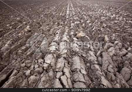 recently plowed land stock photo, geometric forms of plowed land by anton havelaar