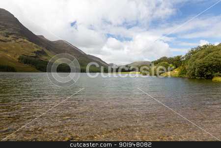 View down length of Buttermere in Lake District stock photo, Buttermere lake in Lake District in England looking down length of the water by Steven Heap