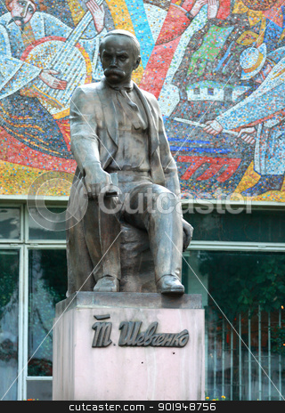 Taras Shevchenko stock photo, Monument to the famous Ukrainian poet Taras Shevchenko by Oleksandr Pakhay