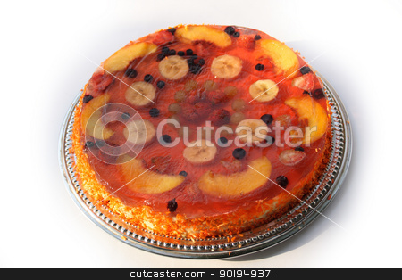 dessert stock photo, On a photo a pie with fruit. by Oleksandr Pakhay