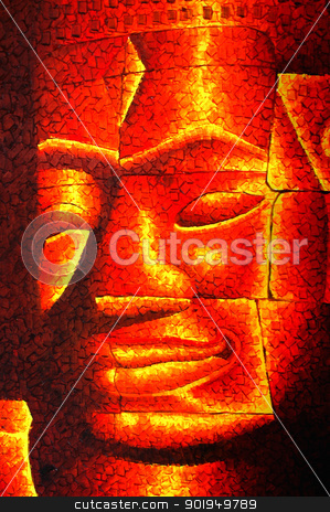 Buddha stock photo, Golden Buddha portrait by John Young