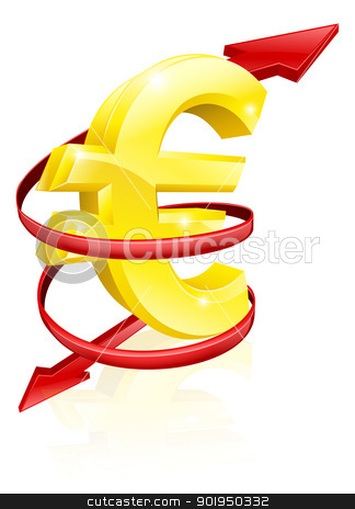 Euro exchange rate concept stock vector clipart, Euro exchange rate concept or concept for changing income or profits  by Christos Georghiou