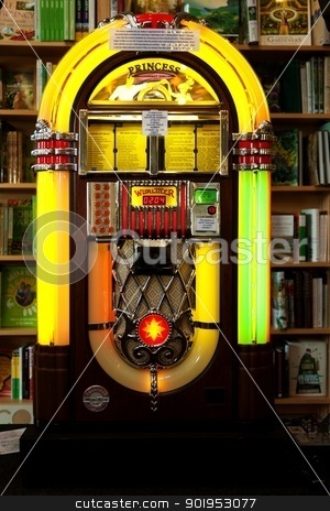 Juke box stock photo, Old 06's Juke box. by olley997