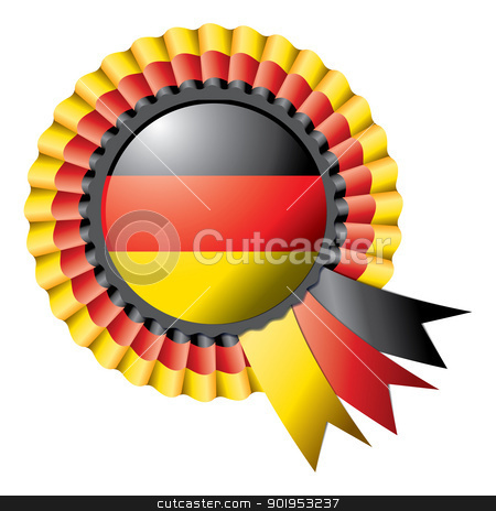 Rosette flag stock vector clipart, Detailed rosette flag of Germany, eps10 vector illustration by Milsi Art