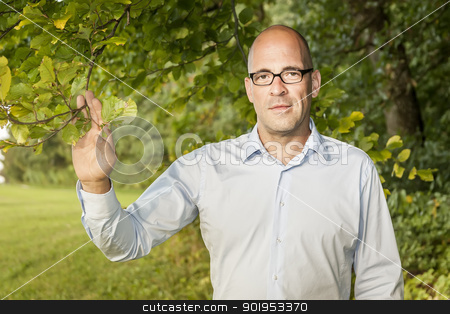 man in the nature stock photo, An image of a man in the nature by Markus Gann