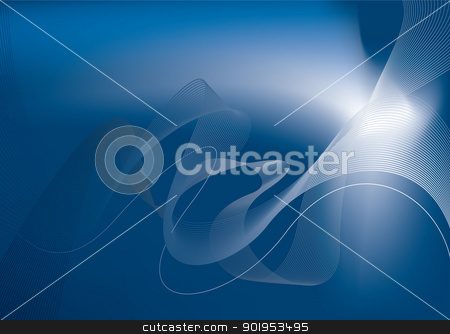 Blue glow abstract stock vector clipart, Abstract blue template background with copy space by Michael Travers