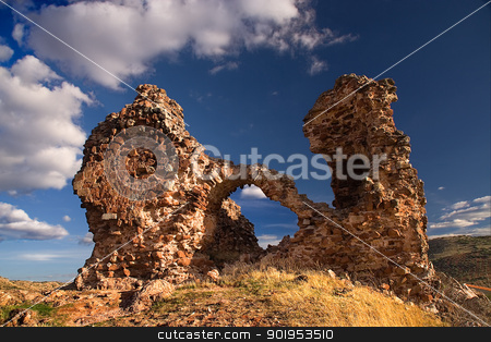 castle of alcaraz stock photo, ruins of an ancient castle in albacete province (spain), built by muslim culture by Camilo