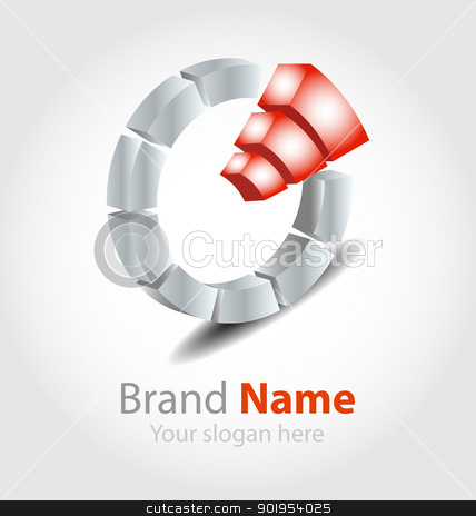 Brand logo orange stock vector clipart, Originally designed vector brand logo by Vladimir Repka