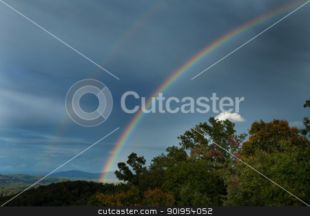 Double Rainbow stock photo, A double rainbow in the Smokey Mountains. by Joe Tabb