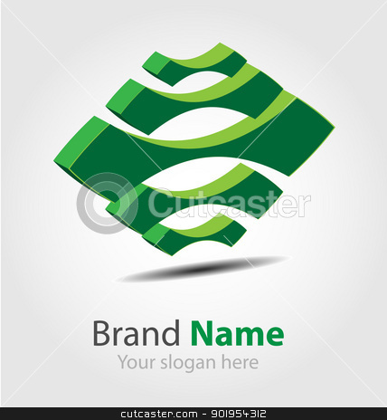 Eco brand logo/icon/element stock vector clipart, Design of the Eco brand logo/icon/element by Vladimir Repka