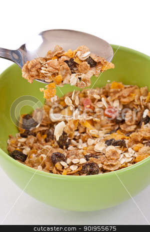 muesli  stock photo, Delicious and healthy wholegrain muesli breakfast, with lots of dry fruits by Grafvision