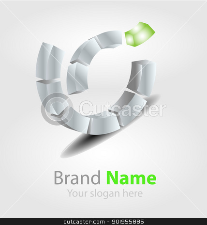 Vector brand logo in ecology color stock vector clipart, Originally designed vector brand logo in ecology color by Vladimir Repka