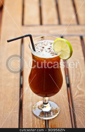 Alcohol cocktail stock photo, Alcohol cocktail with coffee liquor served on restaurant table  by Grafvision