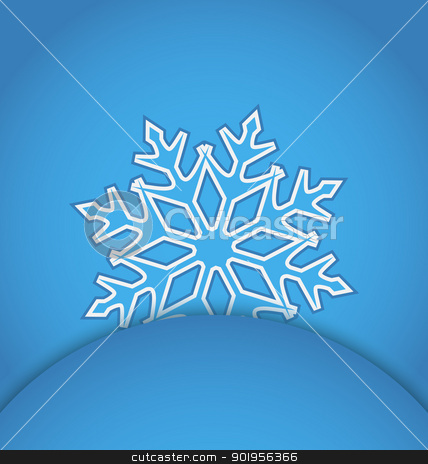 Template frame design with christmas snowflake stock vector clipart, Illustration template frame design with christmas snowflake - vector by -=Mad Dog=-