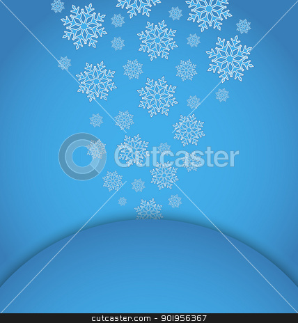 Christmas applique with set snowflakes stock vector clipart, Illustration Christmas applique with set snowflakes - vector by -=Mad Dog=-